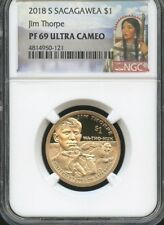 2018 S Sacagawea $1 Jim Thorpe NGC PF69 Ultra Cameo (RED)