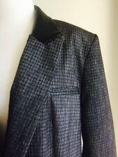 ASOS houndstooth/leather Look Blazer. NWT. Size 16
