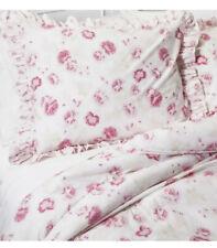 Rachel Ashwell Simply Shabby Chic Pink Peony King Comforter + 2 Shams Ruffled