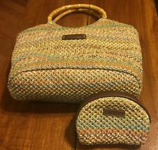 STRADA LADIES PURSE Multi Color Woven With Matching Coin Purse