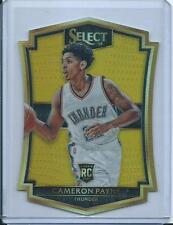 15-16 PANINI SELECT ROOKIE CAMERON PAYNE GOLD PRIZM DIE-CUT 5/10