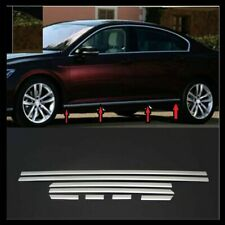 VW Passat B8 Saloon 2014up Chrome Side Door Streamer 8 pcs S.STEEL