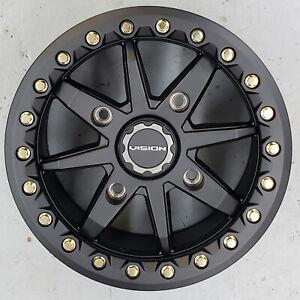 Vision 544 BOLT Bead Lock Aluminum ATV UTV RIM WHEEL 14x7 4/136 4/137 5+2 Black