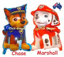 Paw Patrol Chase Marshall Supersize Foil Helium Balloon Party Decoration