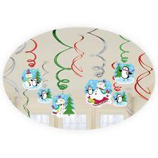 12 bonhomme de neige sapin de Noël Tourbillons pendant Décoration de fête hiver
