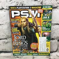 PlayStation 2 Magazine PSM Issue #77 November 2003 Vol. 7 Lord Of The Rings