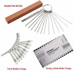 String Action Ruler 9 Understring Radius Gauge 13 Files&Grinding Stone Tool Kit
