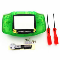 Picachu Transparent Green Housing Shell Case for Nintendo Game boy Advance GBA