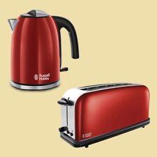 Russell Hobbs Colours plus Flame Red Wasserkocher 1 7 L Langschlitztoaster