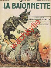 La baionnette n°26 du 30/12/1915 Ferdinand 1er Bulgarie Léandre Iribe Legrain