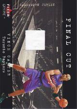2001-02 Fleer Genuine Final Cut Jersey Vince Carter Toronto Raptors