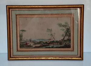 Rare - gravure du port d'Antibes - encadrée et vitrée - XVIII ème siècle