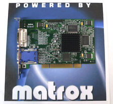 PCI Dual Display Matrox G450 32MB Windows 7 Vista  Video Graphics Card VGA DVI