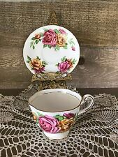 Royal Chelsea English Bone China Tea Cup and Saucer Vintage