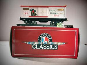 Lionel 6-13601 Standard Gauge 1989 Seasons Greetings Christmas Car NEW O.B.