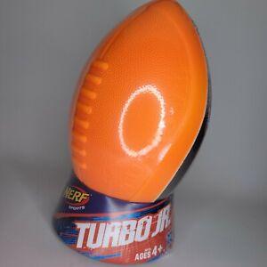 NERF Sports Turbo Jr. Football Orange & Gray Ball Hasbro 2016 NEW SEALED