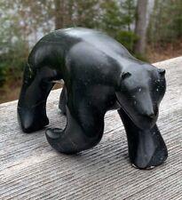 Inuit  Soapstone Art Carving, BEAR, 5x4x2, Jonathan HIQINIQ, Gjoa Haven, 1982, N