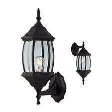 Outdoor Exterior Wall Light Sconce Fixture, Black