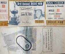 1963 3rd annual Dixie 400 atlanta inter. Mat. Safeway June 16th rex white