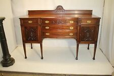 Gorgeous Adams Style Solid Mahogany American Made Carved Sideboard/Server