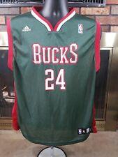 Adidas Milwaukee Bucks NBA Basketball #24 Richard Jefferson Jersey Youth Size XL