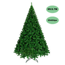 Sale! 2.7M/9ft Green Christmas Tree 2940 PVC Tips Xmas Ornament Metal Frame Gift
