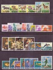 1966 San Marino Annata Completa Nuovi Come Unificato 30 Valori Integri