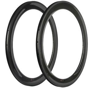 60mm Carbon Rims Bicycle Rims 23mm Clincher Carbon Rim 16/18/20/21/24/28/32h