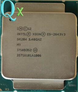 Intel Xeon E5-2643 V3 CPU Processor LGA2011-3 SR204 3.4GHz 6-Core 20M