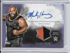 2015 TOPPS WWE UNDISPUTED MARK HENRY PURPLE SHIRT RELIC AUTO SSP /25 USA STRONG