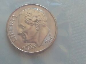 1996 W ROOSEVELT DIME UNC Sealed with US Mint - 50th anniversary