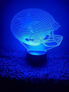 New Dallas Cowboys Multi Color LED Helmet 3D Lamp / Night Light / Man Cave