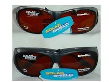 Solar Shield Beyond Blue Fits Over Sunglasses  #25302 Size M/L Lot of 2 Glasses