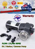12V 24V Water Pressure Pump Boat Caravan 17L 60PSI -  RV / Marine / Camp