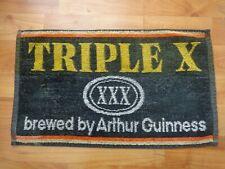 RARE VINTAGE TRIPLE X XXX ARTHUR GUINNESS - PUB BAR BEER TOWEL BREWERIANA