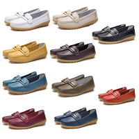 Large Size Women's Real Leather Flats Loafers Office Comfy Casual Pumps Shoes