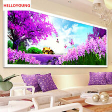 5D Full Diamond Embroidery Pastoral Lavender Diamond Painting Cross Stitch Kits