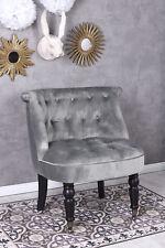 Chaise Rembourrée Fauteuil Baroque de Cocktail Chesterfield Velours Rétro