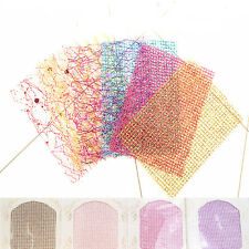 Women 3D Lace Mesh Net Line Nail Sticker DIY Manicure Decoration Art Supplies