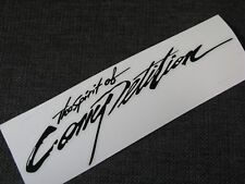 The Spirit Of Competition Sticker RALLIART TURBO GTI SPORT BLACK