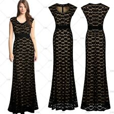 Women Formal Maxi Evening Party Cocktail Ball Gown Bridesmaids Lace Long Dress