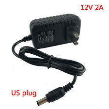 AC DC 12V 2A 2000ma Power Supply Adapter For LED Strip light CCTV camera US plug
