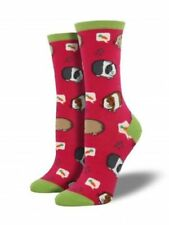 Guinea Pig Socks Dreaming Of Carrots Shoe Size 6-12 crew pink