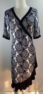 Moss & Spy - Black & White Dress - Size 12 - Preowned - VGC