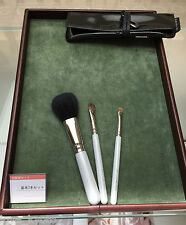 F/S Hakuhodo Hand Crafted Makeup Brushes Basic Selection Set 3pcs Name Opt. AVBL