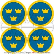 """SWEDEN Swedish AirForce Aircraft Roundels 50mm (2"""") Stickers Decals x4"""