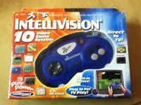 New Intellivision 10 Classic Video Games TV Plug N Play System 2003 Freeshipping