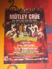 MOTLEY CRUE - 2005  AUSTRALIAN  TOUR  -  PROMO TOUR POSTER