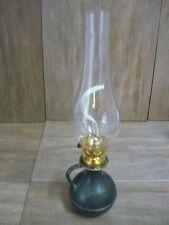 Riproduzione lume lampada lanterna a petrolio in vetro '800 ottone con vetro