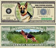 BERGER ALLEMAND BILLET 1 MILLION DOLLAR ! Série CHIENS Animaux